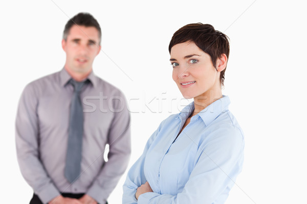 Close up of office workers posing against a white background Stock photo © wavebreak_media