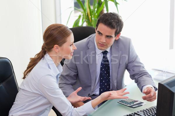Сток-фото: молодые · Бизнес-партнер · служба · компьютер · работу