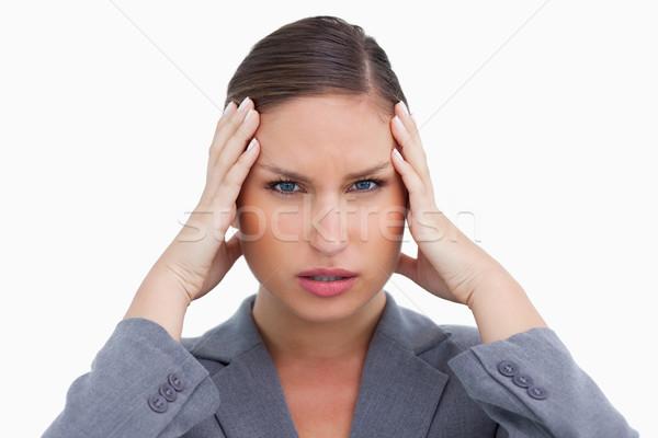 Dor de cabeça branco mão trabalhar médico Foto stock © wavebreak_media