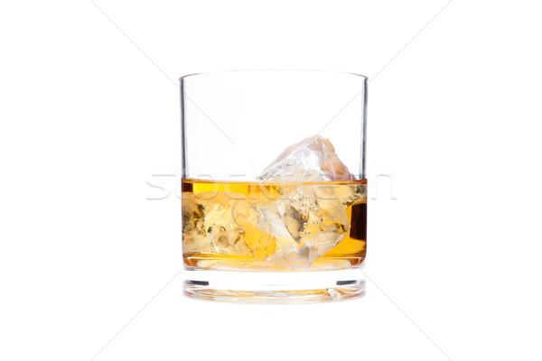 Glass of whiskey against a white background Stock photo © wavebreak_media