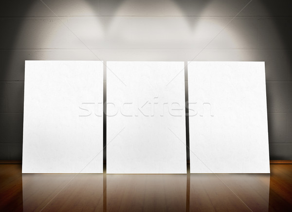 Três pôsteres em pé linha Foto stock © wavebreak_media