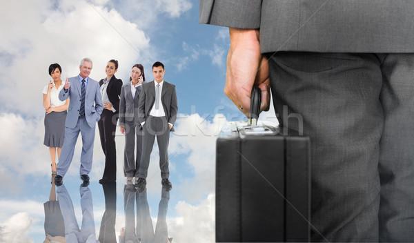 изображение бизнесмен портфель Blue Sky Сток-фото © wavebreak_media
