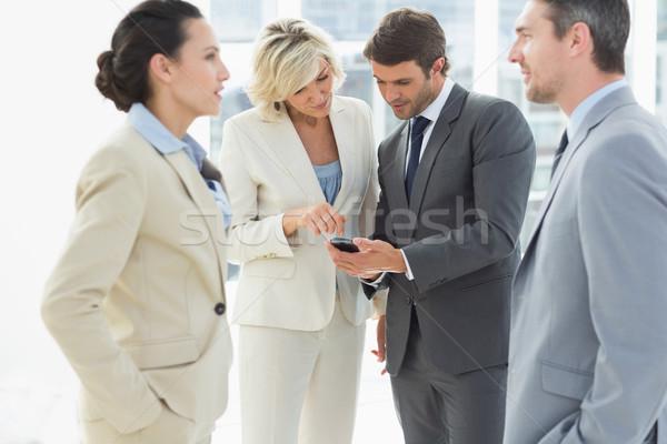 Business Kollegen Diskussion Büro Pause hellen Stock foto © wavebreak_media