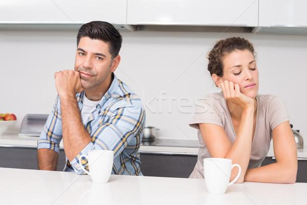 çift kahve değil konuşma diğer Stok fotoğraf © wavebreak_media