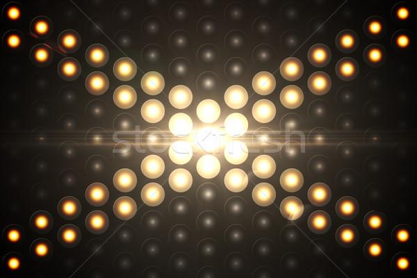 Digitálisan generált diszkó fény citromsárga Stock fotó © wavebreak_media