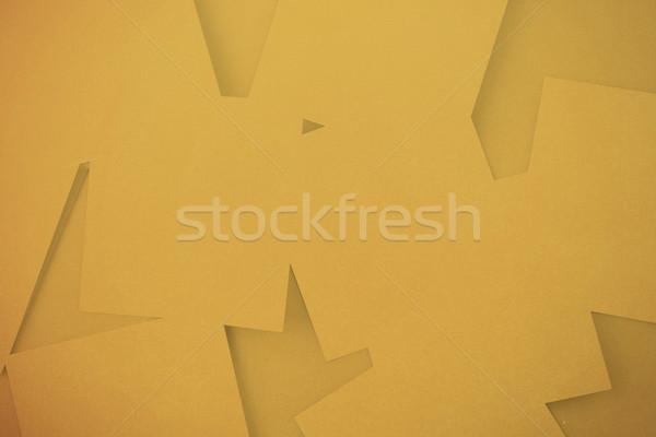 Cyfrowo wygenerowany pomarańczowy papieru powierzchnia Zdjęcia stock © wavebreak_media