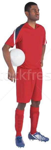 Guapo futbolista rojo fútbol fútbol artes Foto stock © wavebreak_media