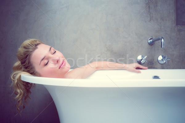 Serene blonde lying in the bath  Stock photo © wavebreak_media