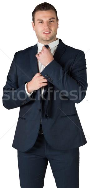 Affaires cravate blanche entreprise professionnels Homme Photo stock © wavebreak_media