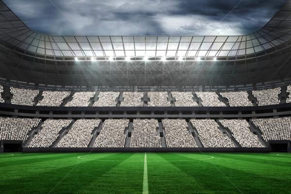 Grande futebol estádio fãs branco digitalmente Foto stock © wavebreak_media