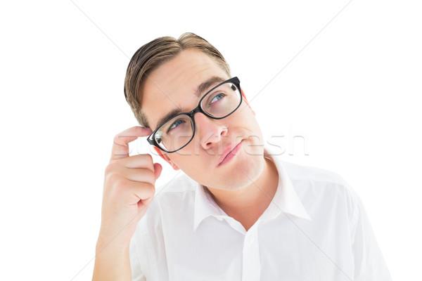 Geeky businessman scratching his head Stock photo © wavebreak_media