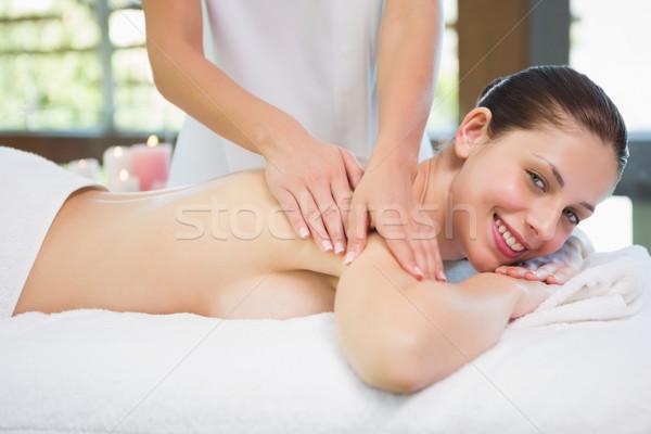плечо массаж Spa центр вид сбоку Сток-фото © wavebreak_media