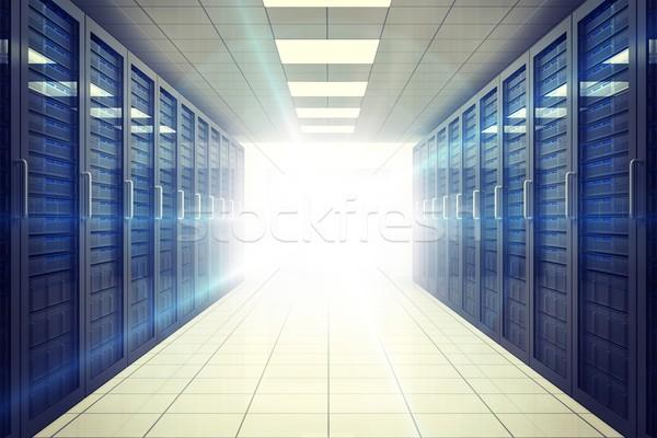 Digitally generated server room with towers Stock photo © wavebreak_media