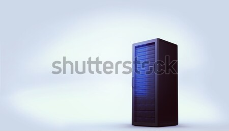 Digitally generated black server tower Stock photo © wavebreak_media