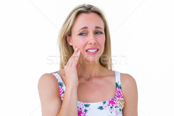 Belo dentes dor branco mulher Foto stock © wavebreak_media