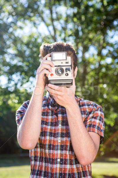 Przystojny wiosną człowiek szczęśliwy Zdjęcia stock © wavebreak_media