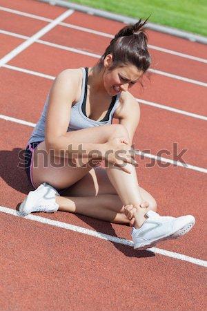 Os blessés femme suivre composite numérique sport Photo stock © wavebreak_media