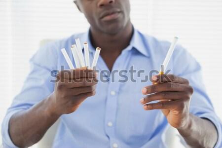 человека электронных нормальный сигареты служба дизайна Сток-фото © wavebreak_media
