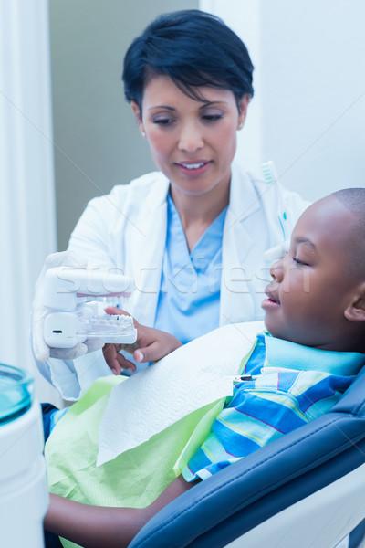 歯科 少年 補綴 歯 女性 ストックフォト © wavebreak_media