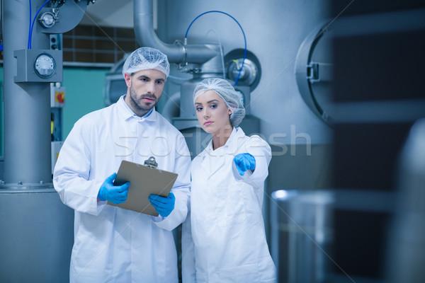 étel együtt dolgozni technológia ipar gyár csapat Stock fotó © wavebreak_media