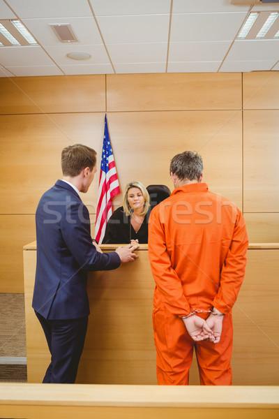弁護士 裁判官 犯罪者 裁判所 ルーム ストックフォト © wavebreak_media