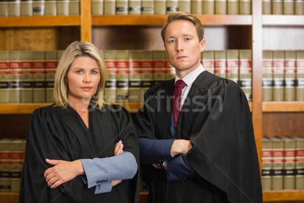 Csapat ügyvédek törvény könyvtár egyetem nő Stock fotó © wavebreak_media