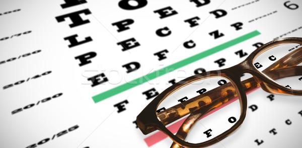 összetett kép olvasószemüveg látásvizsgálat ötlet optikai Stock fotó © wavebreak_media