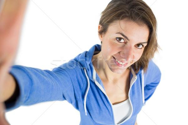 Casual brunette taking a selfie Stock photo © wavebreak_media