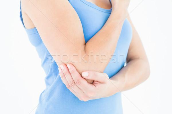 Nő megérint fájdalmas könyök fehér test Stock fotó © wavebreak_media