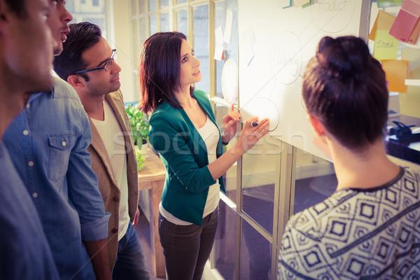 Jonge collega's discussie kantoor groep man Stockfoto © wavebreak_media
