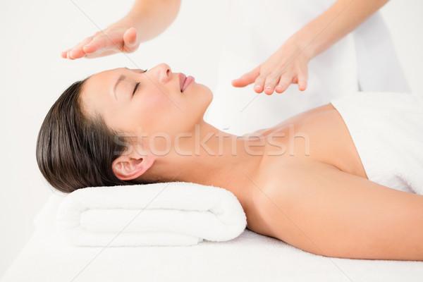 Woman receiving alternative therapy Stock photo © wavebreak_media