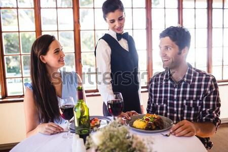 男 婚約指輪 女性 手 レストラン ワイン ストックフォト © wavebreak_media