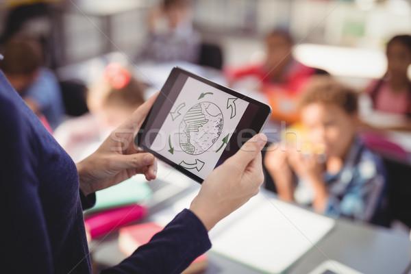 教師 デジタル タブレット 教育 教室 学校 ストックフォト © wavebreak_media