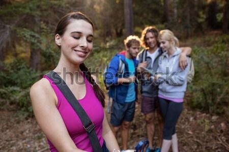 Groep vrouwen jogging samen boot kamp Stockfoto © wavebreak_media