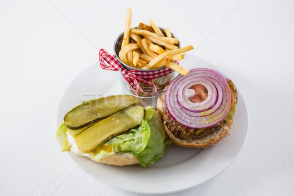 Ansicht öffnen burger Container Stock foto © wavebreak_media