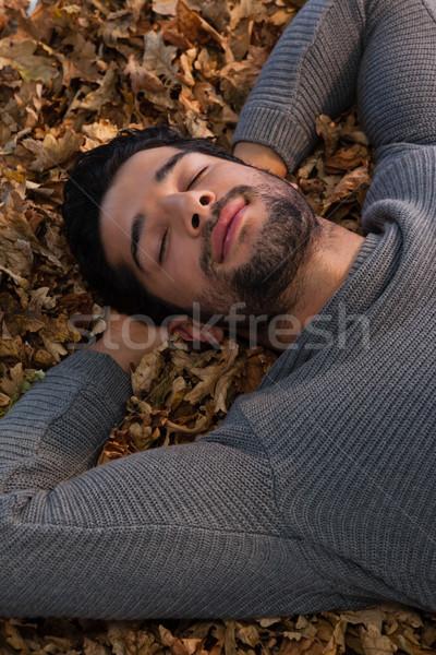 Uomo dormire formazione vacanze caduta Foto d'archivio © wavebreak_media