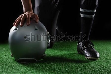 Niski sekcja osoby rugby ball strony dziedzinie Zdjęcia stock © wavebreak_media