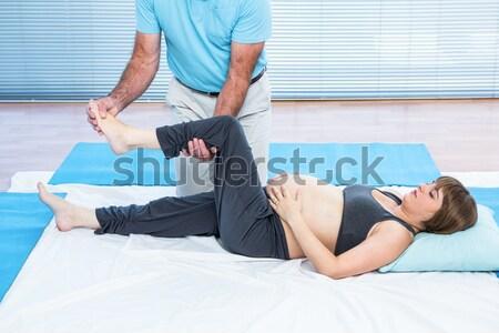 Láb masszázs lány beteg klinika nő Stock fotó © wavebreak_media