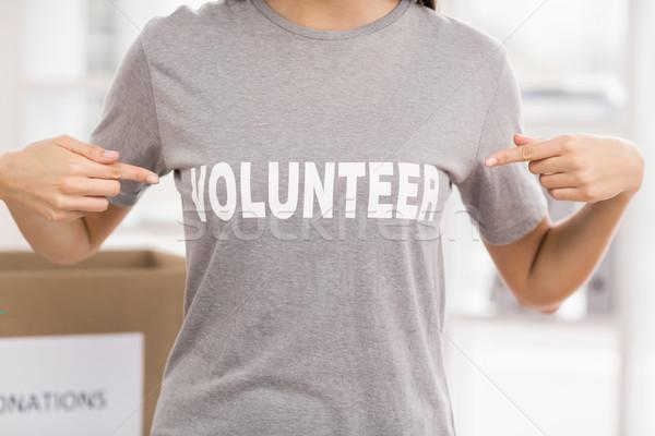 女 顯示 襯衫 辦公室 業務 商業照片 © wavebreak_media