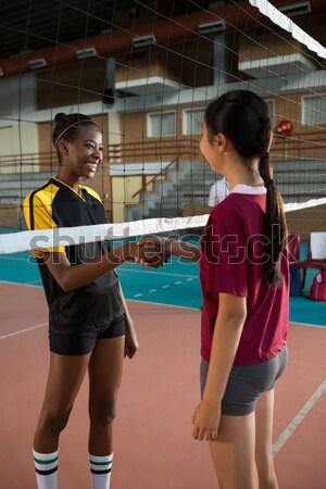 Vrouwelijke spelers spelen volleybal rechter meisje Stockfoto © wavebreak_media
