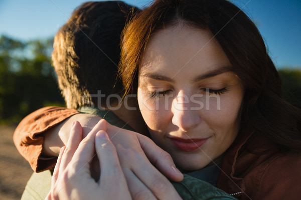 Közelkép pár átkarol fiatal pér nő szeretet Stock fotó © wavebreak_media