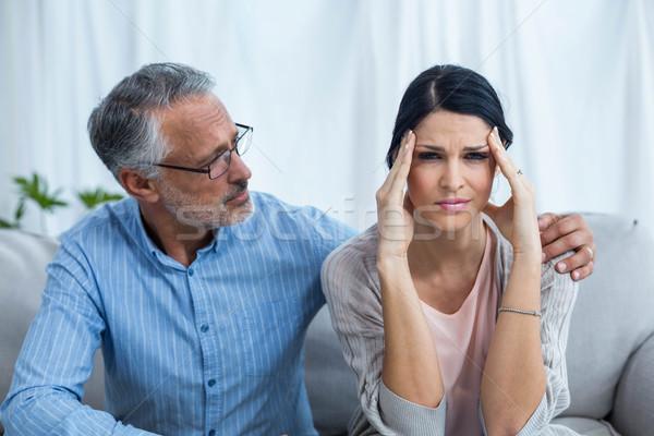 Therapist consoling a woman Stock photo © wavebreak_media