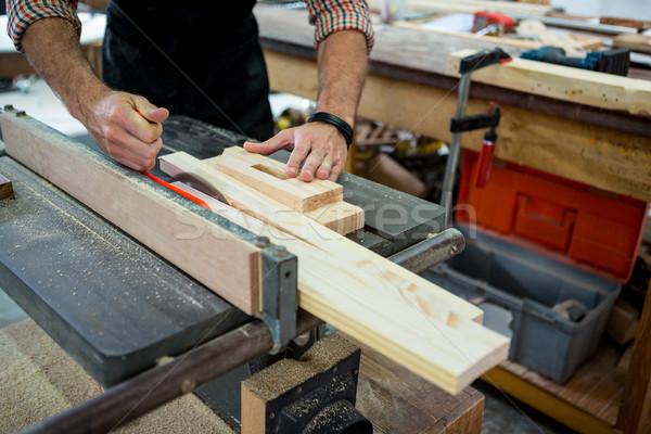 плотник рабочих пыльный семинар работник инструментом Сток-фото © wavebreak_media