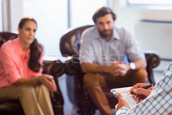 Psikolog yardım çift ilişki zorluklar ofis Stok fotoğraf © wavebreak_media
