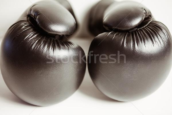мнение боксерские перчатки белый спорт здоровья фон Сток-фото © wavebreak_media