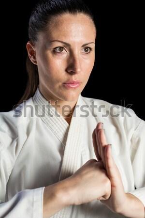 Női vadászrepülő előad kéz közelkép fitnessz Stock fotó © wavebreak_media