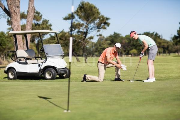 пару играет гольф вместе Сток-фото © wavebreak_media