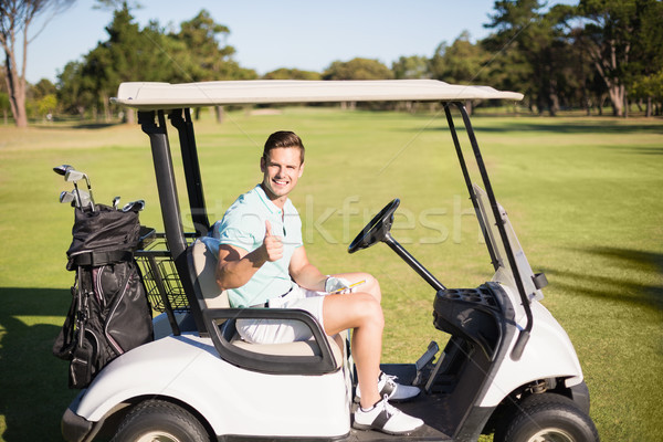 Portrait of golfer man showing thumbs up  Stock photo © wavebreak_media