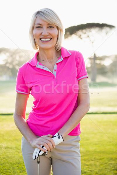 портрет женщину гольфист улыбаясь позируют области Сток-фото © wavebreak_media