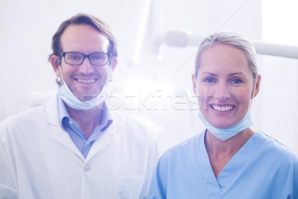Portre diş asistan dişçi cerrahi maske Stok fotoğraf © wavebreak_media